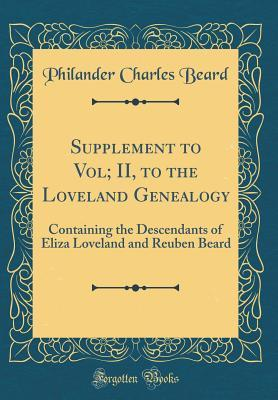 Supplement to Vol; II, to the Loveland Genealogy