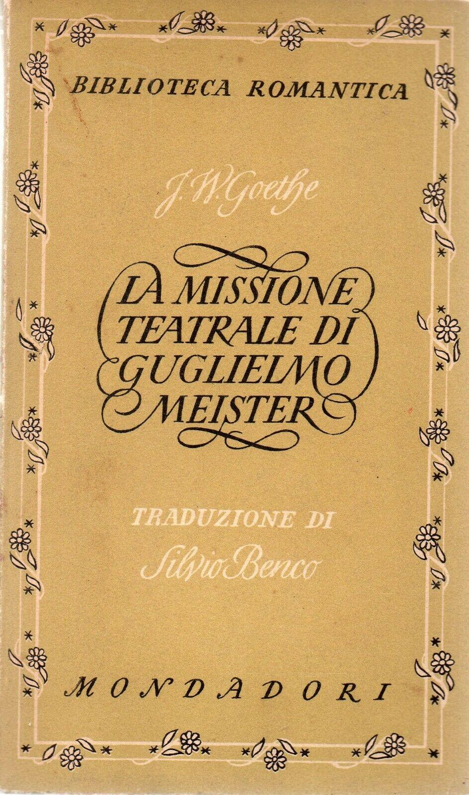 La missione teatrale di Guglielmo Meister