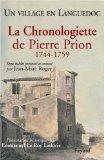La chronologiette de Pierre Prion, 1744-1759
