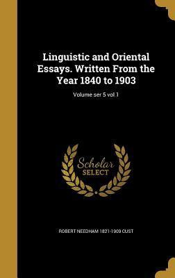 LINGUISTIC & ORIENTAL ESSAYS W