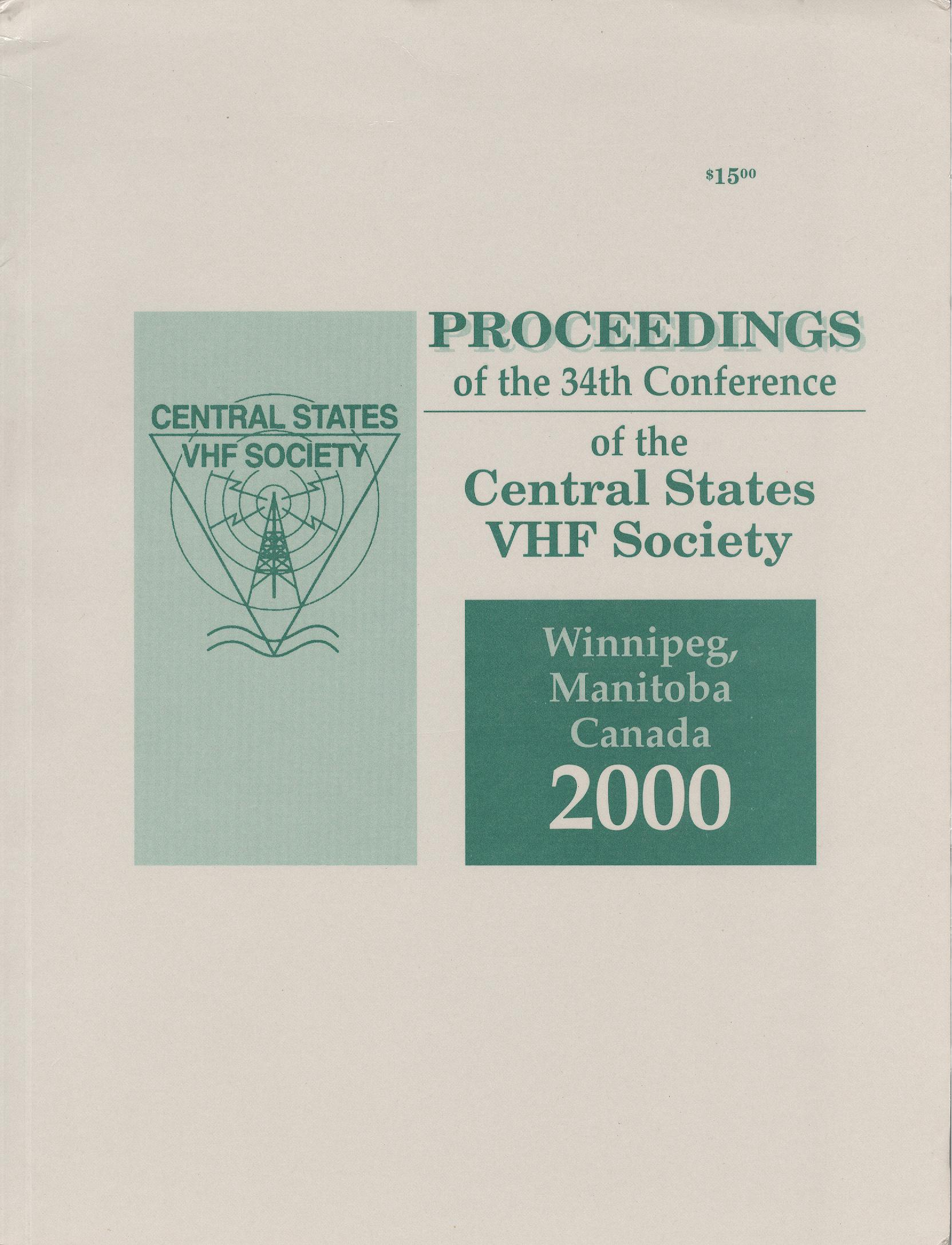 Proceedings of the 34th Conference of the Central State VHF Society 2000