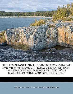 The Temperance Bible-Commentary