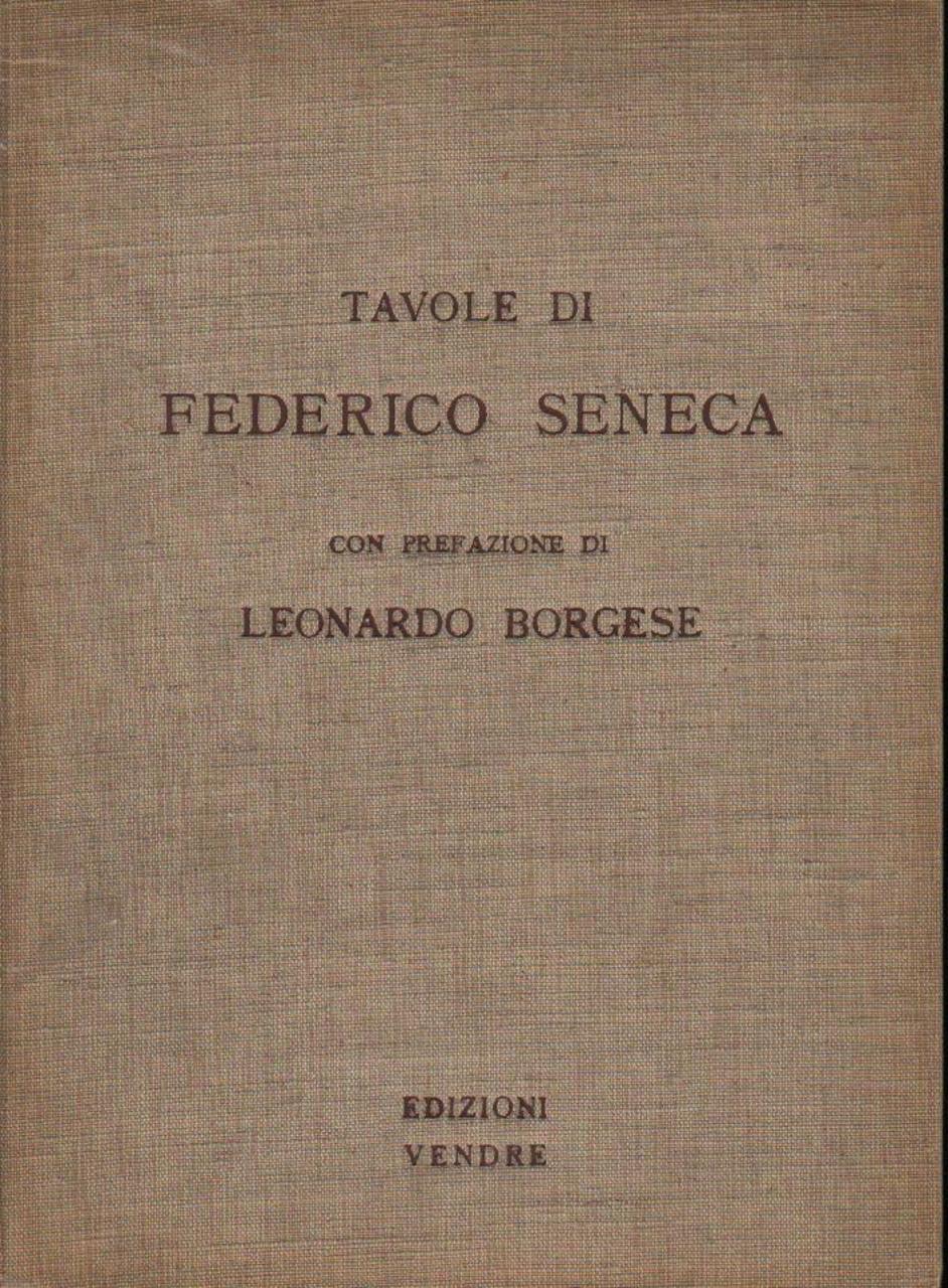 Tavole di Federico Seneca
