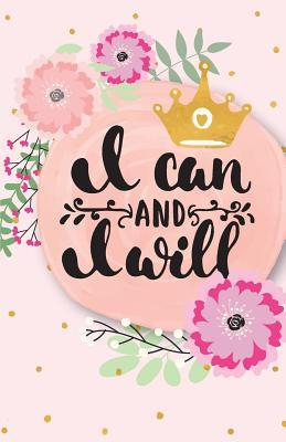 I Can and I Will, Fushia Lady Flower Composition Book
