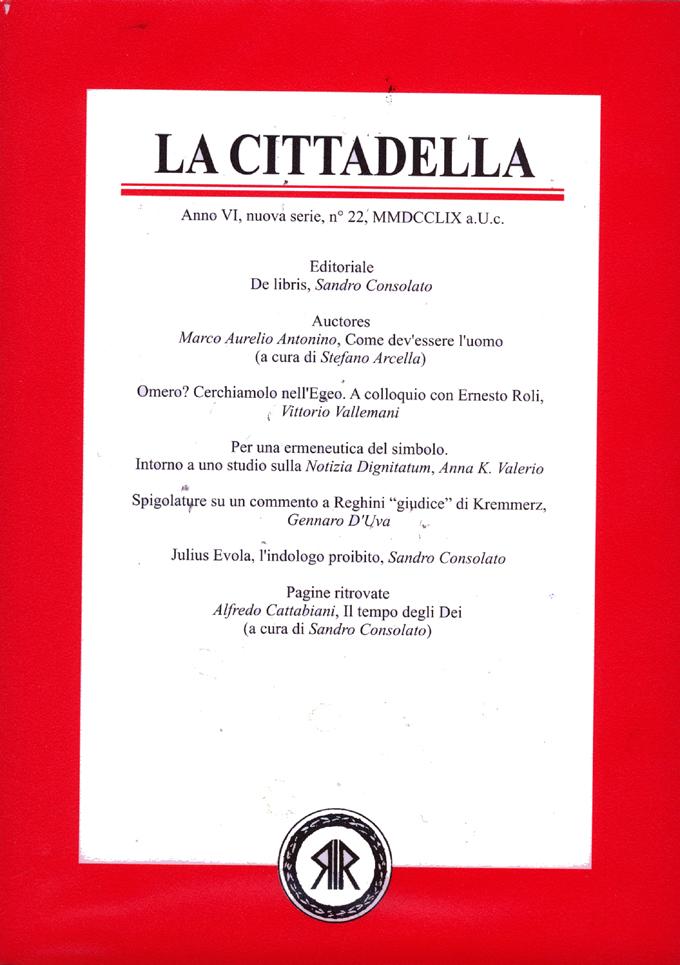 La Cittadella n°22, MMDCCLVIII a.U.C.