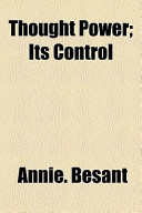 Thought Power; Its Control
