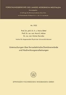 Untersuchungen Über Ferroelektrische Domänenwände Und Nachwirkungserscheinungen
