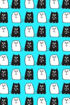 Bullet Journal Notebook For Cat Lovers Black and White Cats in a Row 2