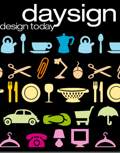 Day sign. Design today