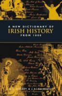 A Dictionary of Irish History, 1800-2000