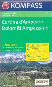Carta escursionistica n. 617. Trentino, Veneto. Cortina d'Ampezzo, Dolomiti ampezzane 1