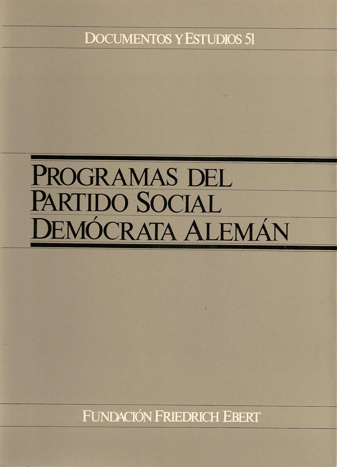 Programas del Partido Social Demócrata Alemán