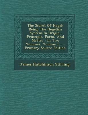 The Secret of Hegel