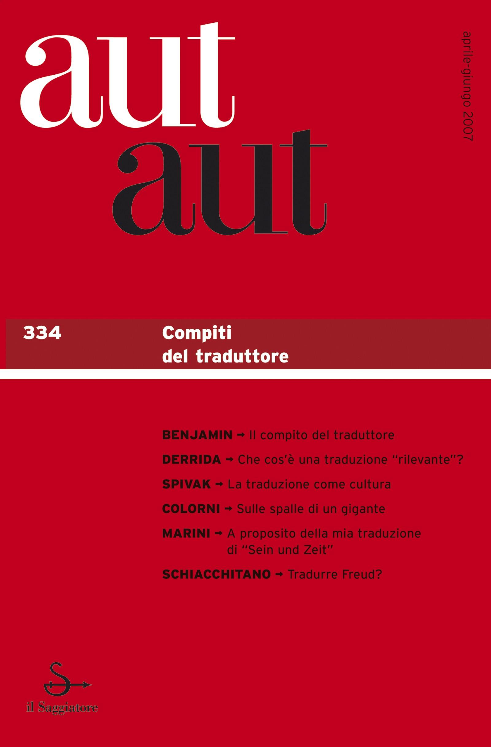 Aut aut n. 334 / 2007