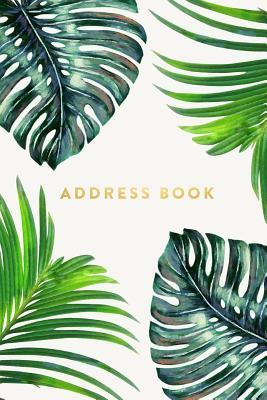 """Address Book - Ferns, 6""""x9"""", 130 Pages, Professionally Designed"""