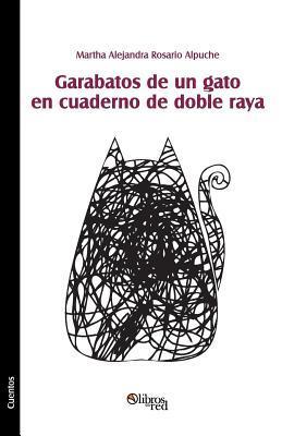 Garabatos de Un Gato En Cuaderno de Doble Raya