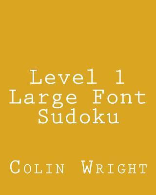 Level 1 Large Font Sudoku