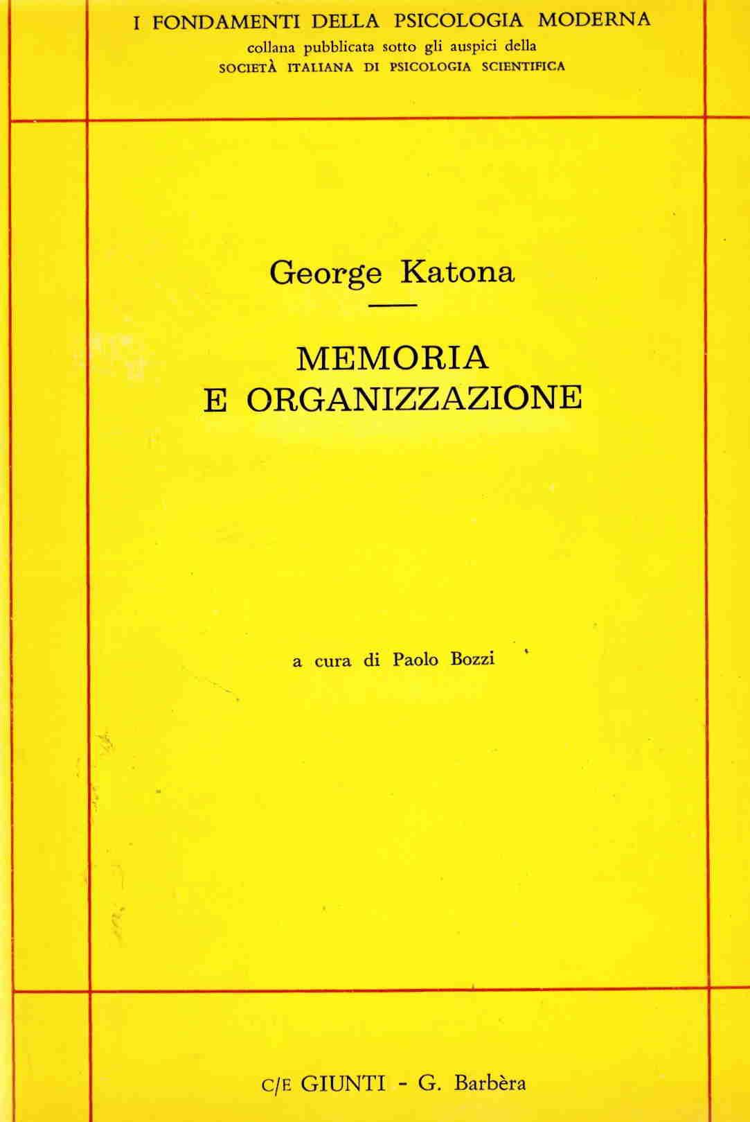 Memoria e organizzaz...