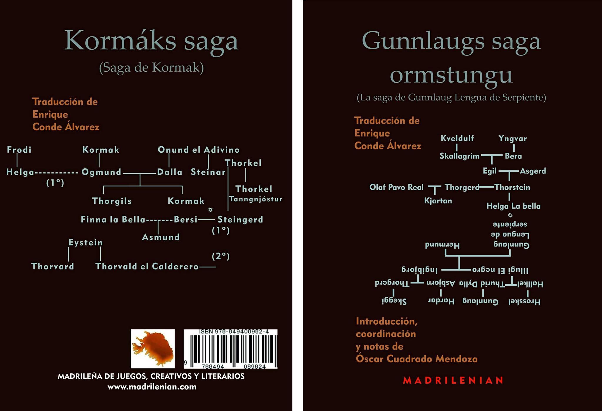 Gunnlaugs saga ormstungu; Kormáks saga