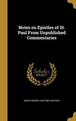 NOTES ON EPISTLES OF ST PAUL F