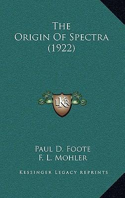 The Origin of Spectra (1922)