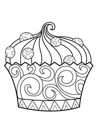 Cupcake Dessert Zentangle Journal