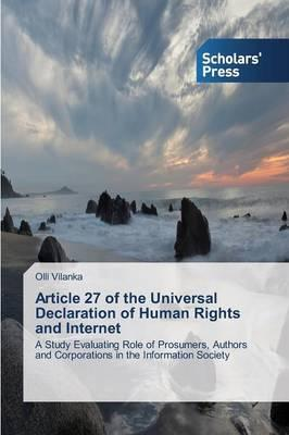 Article 27 of the Universal Declaration of Human Rights and Internet