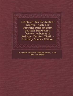 Lehrbuch Des Pandecten-Rechts,