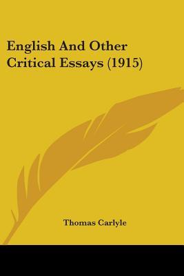 English And Other Critical Essays