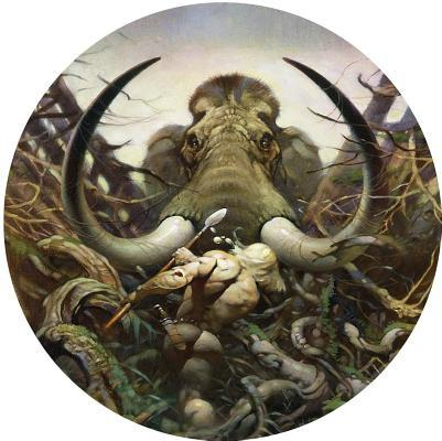 Frazetta Magnet the Mammoth
