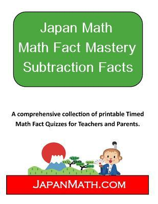 Japan Math Math Fact Mastery Subtraction Facts