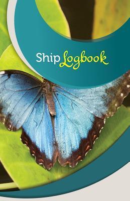 Beautiful Blue Butterfly Ship Log Book