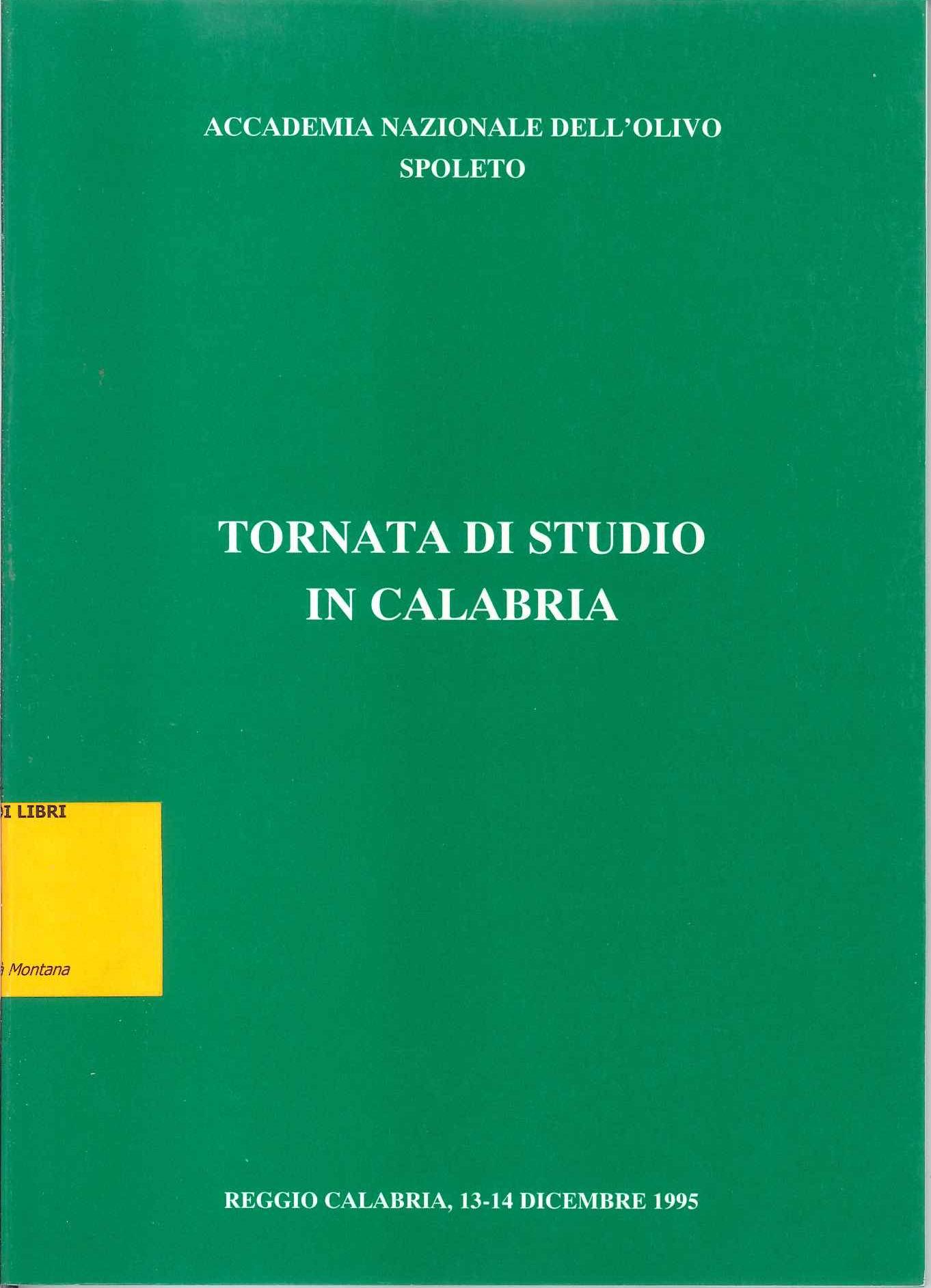 Tornata di studio in Calabria