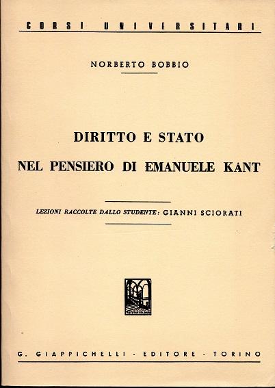 Diritto e Stato nel pensiero di Emanuele Kant