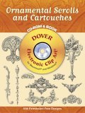 Ornamental Scrolls and Cartouches CD-ROM and Book