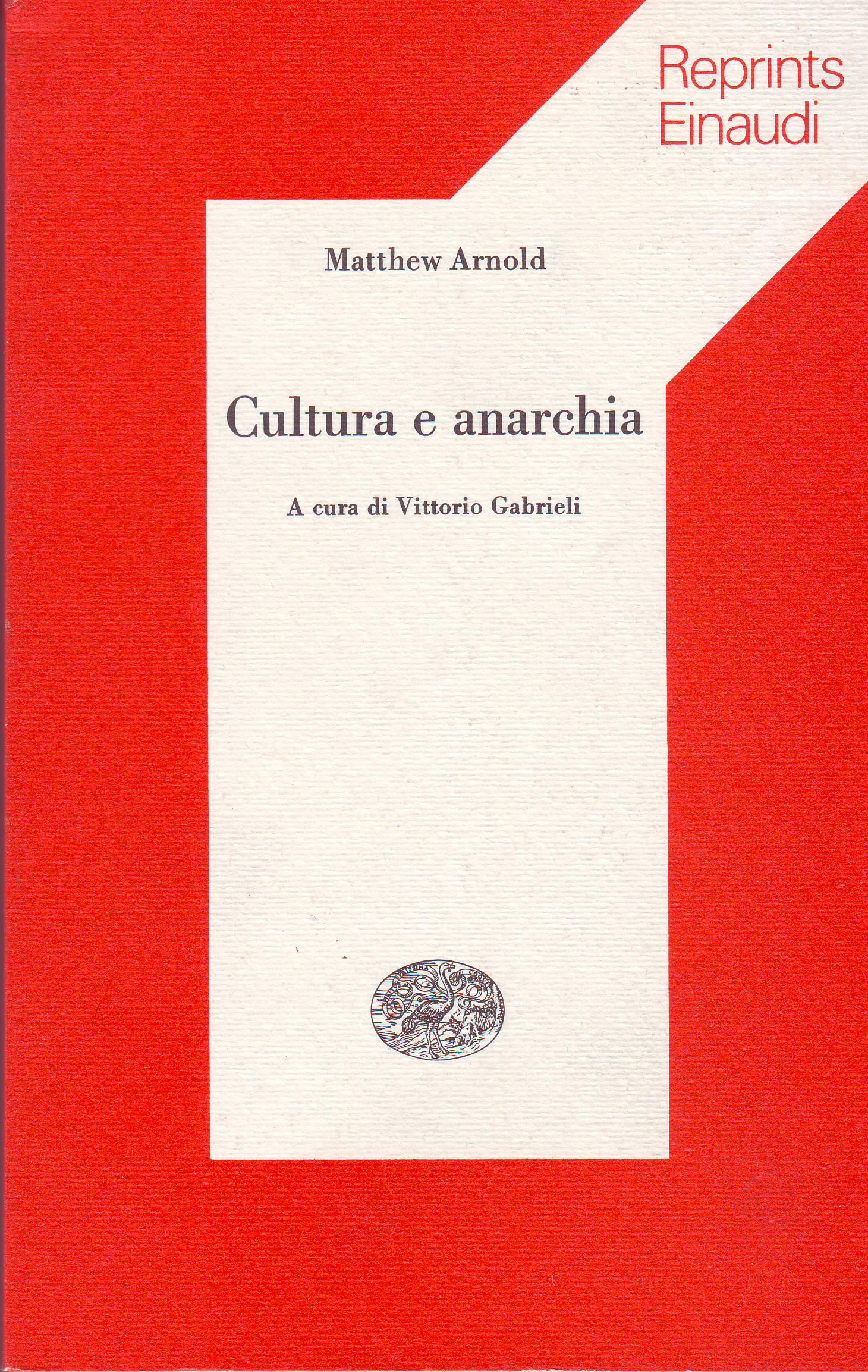 Cultura e anarchia