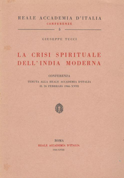 La crisi spirituale dell'India moderna