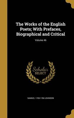 WORKS OF THE ENGLISH POETS W/P