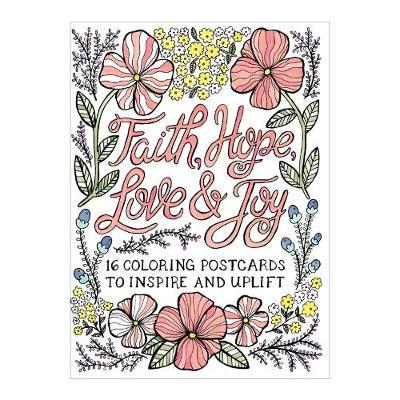 Faith, Hope, Love & Joy Coloring Postcards