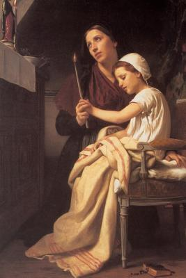 The Thank Offering by William-adolphe Bouguereau - 1867 Journal