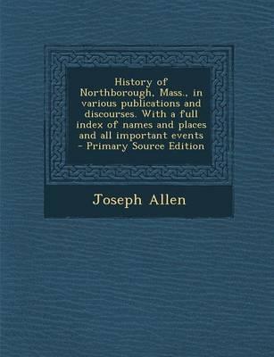 History of Northboro...