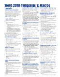 Microsoft Word 2010 Templates and Macros Quick Reference Guide (Cheat Sheet of Instructions, Tips and Shortcuts - Laminated Card)