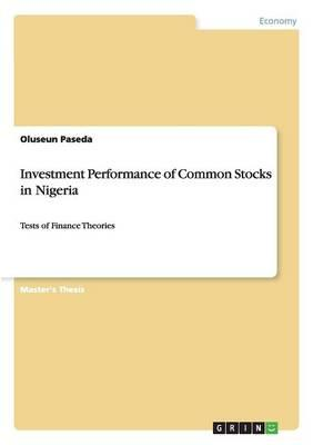 Investment Performance of Common Stocks in Nigeria