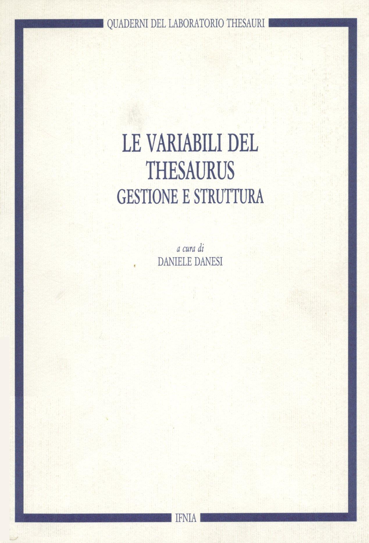 Le variabili del thesaurus