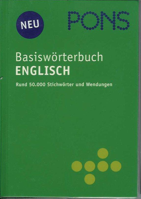 Pons Basiswörterbuch Englisch- Deutsch/ Deutsch- Englisch
