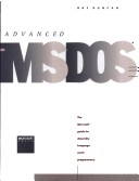 Advanced MS-DOS Programming