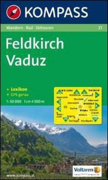 Carta escursionistica n. 21. Austria. Vorarlberg. Feldkirch-Vaduz 1