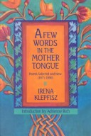A few words in the mother tongue