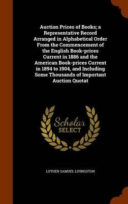 Auction Prices of Bo...