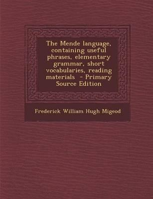 The Mende Language